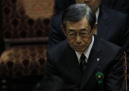presidente de la compañia electrica Tepco de Japon